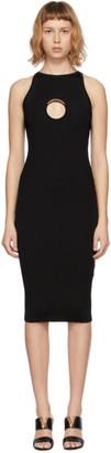Versace Black Knit Ring Hardware Dress