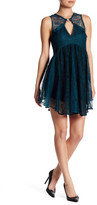 Free People Don&t You Dare Lace Shift Dress