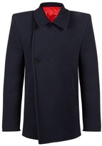 Balenciaga Structured Shoulder Peacoat - Mens - Navy