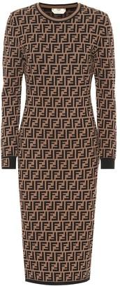 Fendi FF knit midi dress