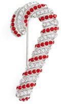 Nadri Women's Jolly Candy Cane Pin