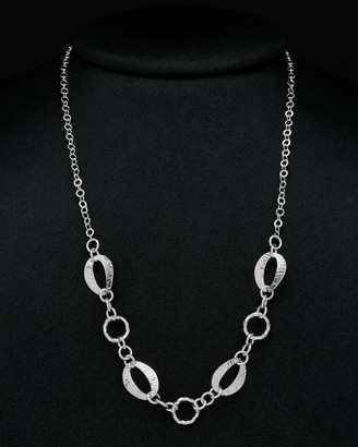 Italian Silver Round & Oval Chain Link Necklace