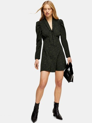 Topshop Mini Shirtdress - Khaki