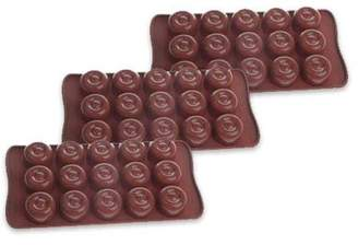 """Cool Chef Cool Silicone 3 Pack Chocolate Molds 