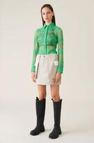 Thumbnail for your product : Ganni Linen Mini Skirt