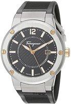Salvatore Ferragamo Men's FIF010015 F-80 Analog Display Quartz Black Watch