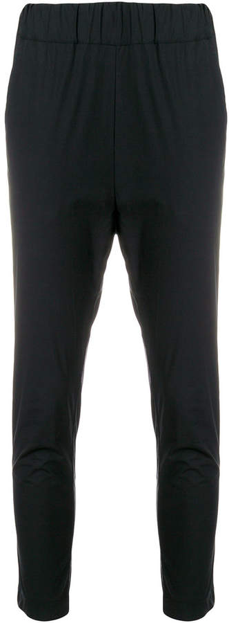 Lareida dropped crotch cropped trousers