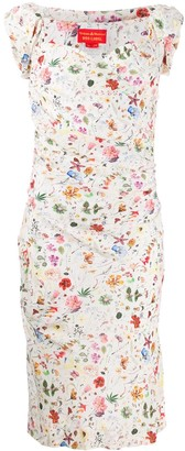 Vivienne Westwood Pre Owned floral bustier dress