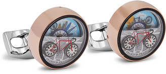 Deakin & Francis Moving London Scene Rose Gold And Silver-Tone Cufflinks