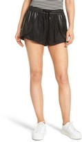 Blank NYC Women's Blanknyc Hugs & Kisses Faux Leather Trim Skort