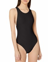 Seafolly Womens Geometric Dd-Cup High Neck One Piece Swimsuit