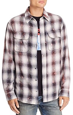Purple Brand Plaid Regular Fit Flannel Shirt