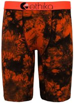Ethika Men's Black Orange Tye Dye The Staple Fit Boxer Briefs Underwear-Small