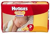 Huggies Gentle Care Preemies Diapers, Size P, 30-count