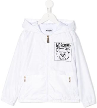 MOSCHINO BAMBINO Logo Print Rain Jacket