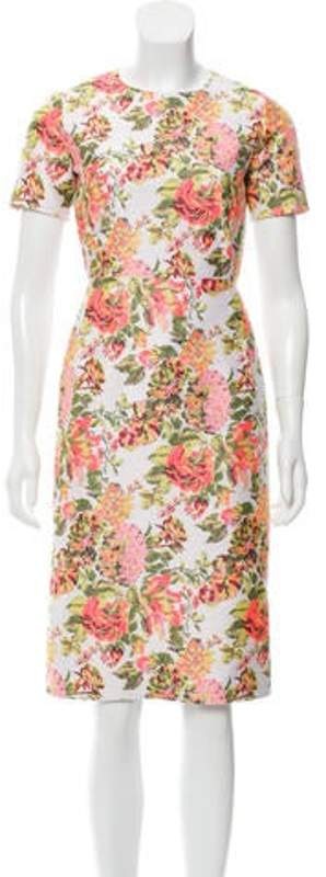 Stella McCartney Floral Sheath Dress White Floral Sheath Dress