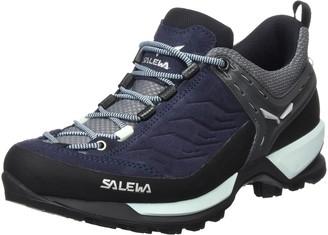 Salewa WS Mountain Trainer Trekking & hiking shoes Women's Blue (Premium Navy/Subtle Green) 5.5 UK