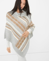 White House Black Market Petite Fair Isles Poncho