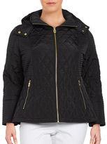 MICHAEL Michael Kors Quilted Zip-Front Jacket