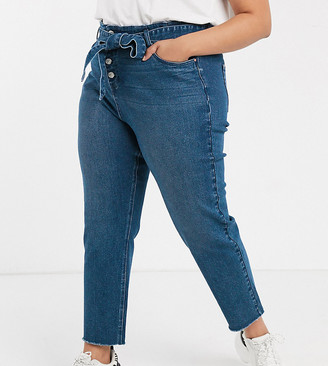 Urban Bliss Plus high waist skinny jeans with removable tie belt