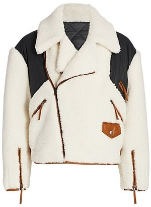 Frame Fleece Mix Aviator Jacket