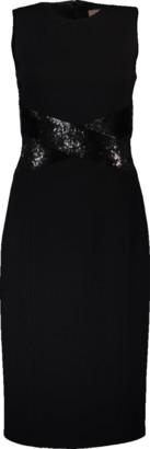 Michael Kors Contrast Paillette X-Sheath Dress