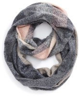 BP Women's Plaid Boucle Infinity Scarf