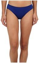 Lauren Ralph Lauren Laguna Solids Hipster w/ Logo Plate Bottoms Women's Swimwear