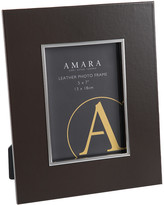 """A by Amara - Whinfell Leather Photo Frame - 5x7"""" - Coffee"""