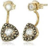 "Judith Jack All About Ears"" Sterling Silver/Gold Tone Jacket Stud Earrings"
