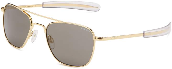 Randolph Aviator Square Sunglasses, 55