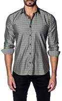 Jared Lang Slim Fit Grid Sport Shirt