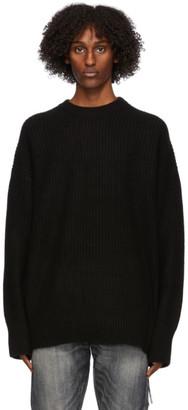 Mastermind Japan Black Cashmere Needle Punch Sweater