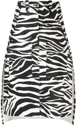 Sacai Deconstructed Zebra-Print Skirt