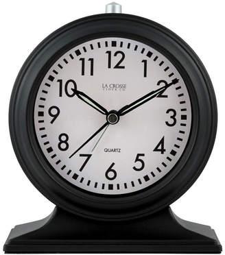 La Crosse Technology La Crosse Clock Silent Sweep Black Mantel Alarm Clock