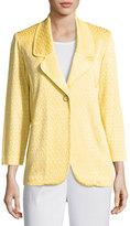Misook Long-Sleeve Knit Jacket, Daisy