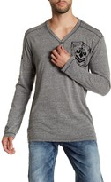 Affliction Disjointed Henley Tee