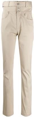 Unravel Project Corset Waist Straight-Leg Trousers