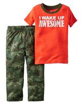 Carter's 2-pc. I Wake Up Awesome Camo Pajama Set - Baby Boys newborn-24m