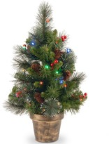 Crestwood National Tree Company 2-ft. Pre-Lit Artificial Spruce Christmas Tree