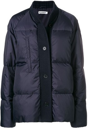 Jil Sander Wool-Trim Puffer Jacket