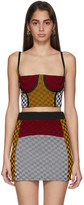 Paolina Russo SSENSE Exclusive Yellow and Red Illusion Knit Cropped Bustier Tank Top