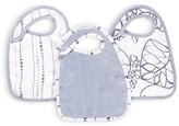 Aden + Anais Infant Unisex Silky Soft Snap Bibs 3 Pack