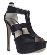MICHAEL Michael Kors Berkley T-strap Platform Sandals, Black Glitter.