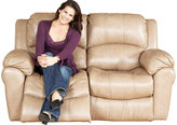 Casaro Toffee Leather Reclining Loveseat