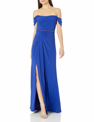 Adrianna Papell Women's Pleated Jersey Column Gown