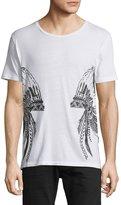 Robin's Jeans Headdress-Graphic Short-Sleeve T-Shirt, White