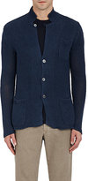 Zanone MEN'S LINEN V-NECK CARDIGAN