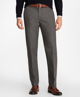 Brooks Brothers Milano Fit Mini-Check Stretch Advantage Chino Pants