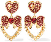 Dolce & Gabbana Gold-tone Crystal Clip Earrings - one size